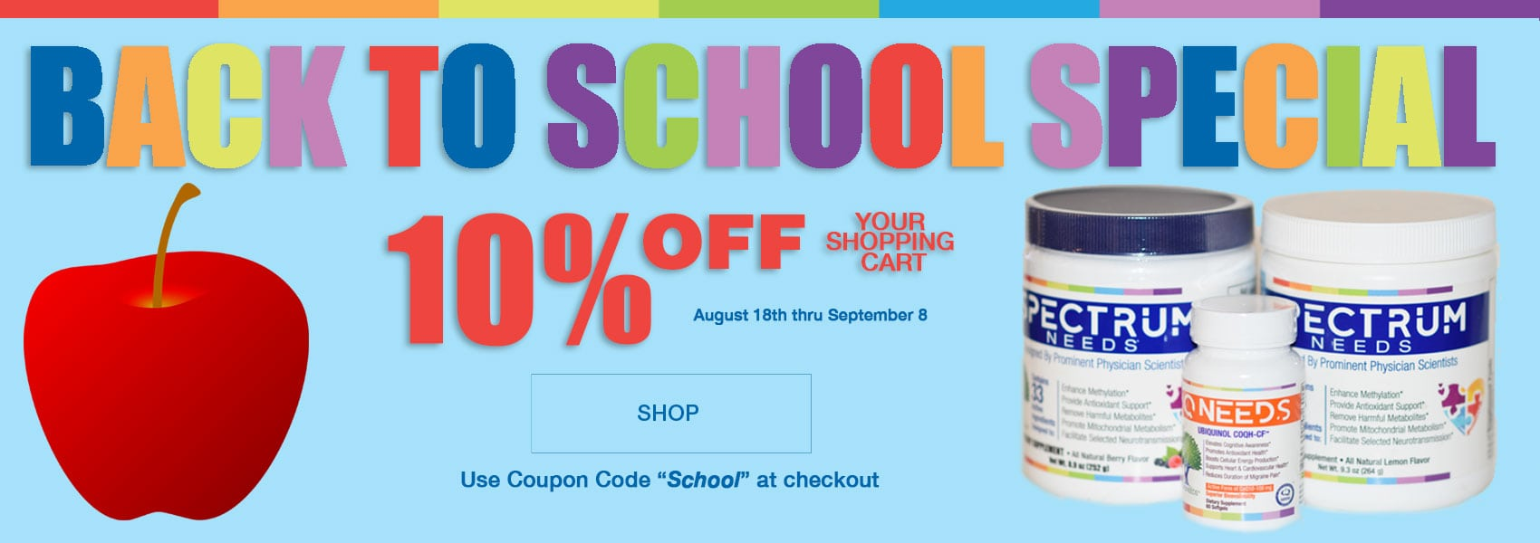19% OFF BACK TO SCHOOL